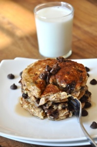 oats chocolate pancake