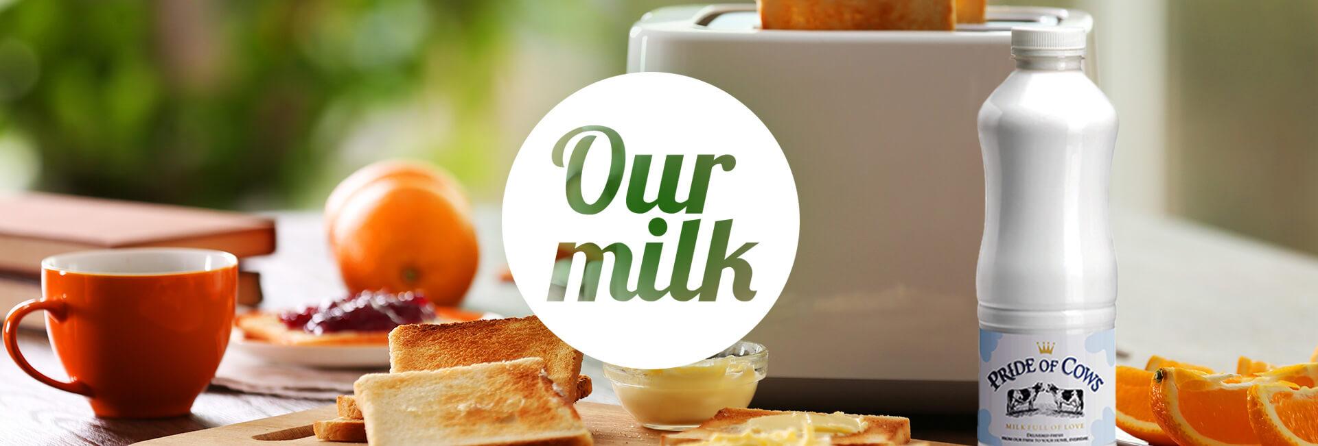 Breakfeast with Pride of Cows milk