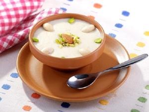 Badam kheer from fresh milk